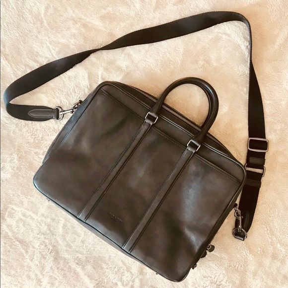 b17ec963 COACH Men's Metropolitan Double Zip Business Bag
